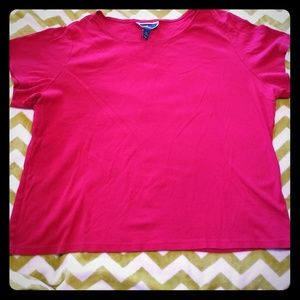 Karen Scott Red Shirt 3X